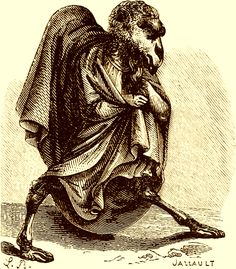 The Demon Uvall ( Wall )  as depicted in Collin de Plancy's Dictionnaire Infernal, 1863 edition.