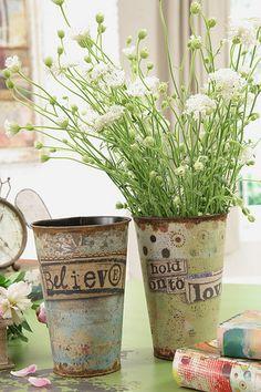 Kelly Rae Roberts Iron Decorative Pot Believe(Creative Coop)