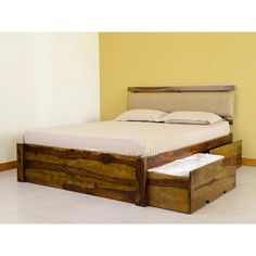 Rent Furniture Online - Belle Double Bed with Storage