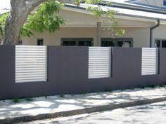 Image result for rendered brick fence designs