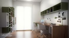 Architectural visualization of an interior design housing project developed by Veintitres Creative Studio.