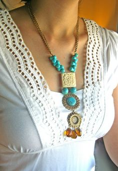 I DIG Turquoise....Necklace by Arnaz on Etsy