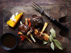 Rødvinsbraisert bibringe Polenta, Grill Pan, Grilling, Griddle Pan, Crickets, Grill Party