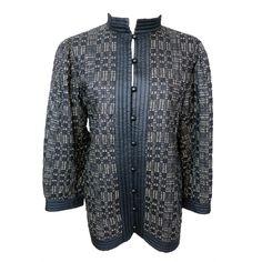 1stdibs   Vintage YVES SAINT LAURENT 1980's pure silk modern plaid jacket