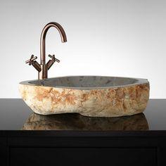 Sampson Natural Stone Vessel Sink - Bathroom Sinks - Bathroom