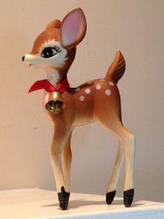 Vintage Hong Kong Bambi Christmas Deer by GoldilocksHouse on Etsy