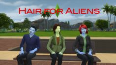 Hair for Aliens by count_cosmos at Mod The Sims via Sims 4 Updates