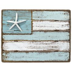 Share a casual coastal spirit with decor and figurines from Malden. This wall decoration features a rough, weathered style and a coastal flag design. Rope and starfish accent add nautical charm. Beach Cottage Style, Coastal Cottage, Coastal Homes, Coastal Style, Beach House Decor, Coastal Living, Coastal Decor, Beach Wall Decor, Seashore Decor