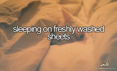 little reasons to smile: sleeping on freshly washed sheets.