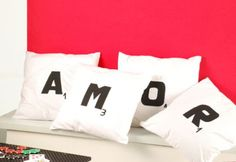 Almohadones con Letras