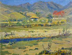 PAULO VERGUEIRO LOPES DE LEÃO - (1889 - 1964)    Título: Paisagem  Técnica: óleo sobre madeira  Medidas: 32 x 41 cm  Assinatura: canto inferior direito