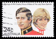charles and diana  stamps | Australia Prince Charles and Diana royal wedding postage stamp Royalty ...