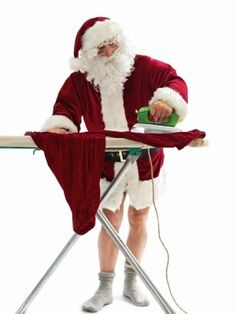 Who does the #ironing in your house #letterfromsanta www.fatherchristmasletters.co.uk