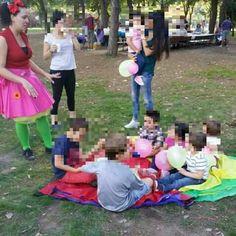 Juegos con paracaídas. Cumpleaños
