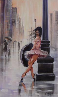 Girl Dancing In The Rain Photography Beautiful 60 Ideas Rain Painting, Woman Painting, Dancing In The Rain, Girl Dancing, Dance Paintings, Watercolor Paintings, Art Gallery, Dancing Drawings, Rain Art