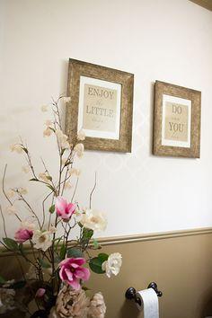 Powder Room Wall Art   Our Home, DIY wall art, easy, free printable