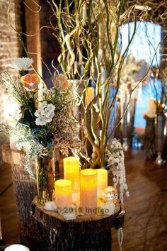 Winter wedding branches