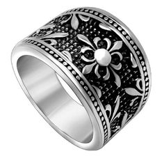 SA376 Men Women's Fashion Stainless Steel Ring,Silver -- This is an Amazon Affiliate link. Visit the image link more details.