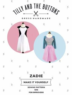 Get the Zadie Dress Pattern by Tilly and the Buttons from the sewing range at Create and Craft. Love Sewing, Dress Sewing, Knit Dress, Tilly And The Buttons, Dress Making Patterns, Patterned Sheets, Sewing A Button, Pdf Sewing Patterns, Clothes Patterns