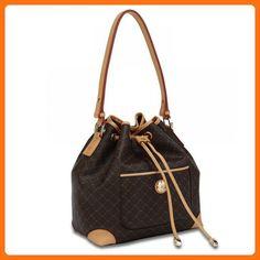 fb0e35366aa Replica Handbags Brown Shoulder Drawstring Bag by Rioni Designer Handbags    Luggage