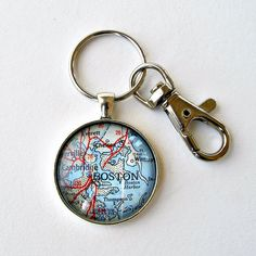 Lake tahoe map keychain made from 1950s vintage map 20 by boston map keychain boston graduation gift fathers day keychain gifts for dad college keychain teacher gift gift for grandpa gumiabroncs Gallery