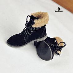 MSD 1/4 BJD Shoes Dollfie DOD Black Nubuck leather Boots MID SOOM AOD Dollmore #Dollmansion #BJDSHOES