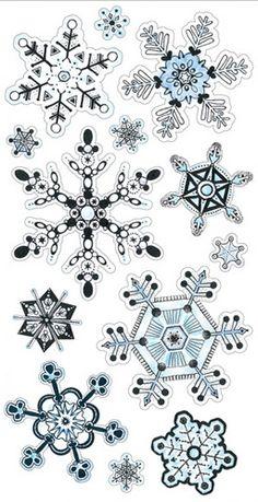 Snowflakes - Vellum Scrapbooking Stickers