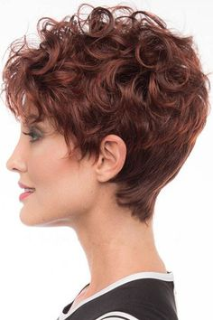 Women Brown Full Bang Fluffy Layered Curly Short Wig One Size kurzhaarfrisure The post Women Brown Full Bang Fluffy Layered Curly Short Wig One Size appeared first on Kurzhaarfrisuren. Curly Hair With Bangs, Curly Hair Cuts, Curly Wigs, Hairstyles With Bangs, Short Hair Cuts, Easy Hairstyles, Curly Hair Styles, Natural Hair Styles, Short Hair Over 60