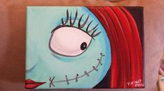 Sally Nightmare Before Christmas by ButterflyCreation on Etsy Halloween Canvas, Halloween Painting, Diy Canvas Art, Canvas Paintings, Canvas Ideas, Jack The Pumpkin King, Sally Nightmare Before Christmas, Paint And Sip, Christmas Paintings