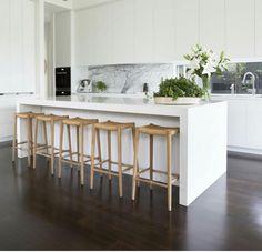 The kitchen that is top-notch white kitchen , modern kitchen , kitchen design ideas! Home Kitchens, Kitchen Remodel, White Modern Kitchen, Kitchen Decor, Kitchen Design Modern White, White Kitchen Design, Kitchen Interior, Kitchen Layout, Farmhouse Style Kitchen