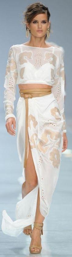 Ermanno Scervino dress @roressclothes closet ideas women fashion outfit clothing style