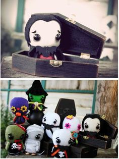 These little softies are Coffin Critters by Alexz of Spooky Pooky Creations. Oh…