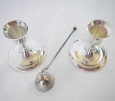 Vintage International Silver Company Candlestick Set by rust2retro
