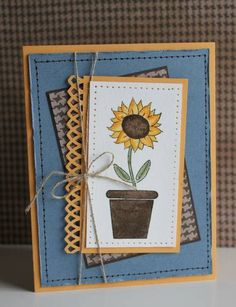 September Sunflower by sweetpeas - Cards and Paper Crafts at Splitcoaststampers