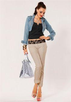 Melrose Chinohose im Online Shop von Ackermann Versand Shops, Khaki Pants, Shopping, Fashion, City, Moda, Tents, Khakis, Fashion Styles