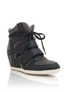 combo high-top wedge sneakers $30.50