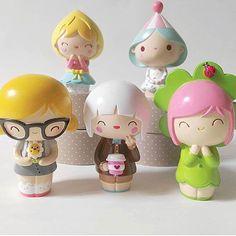 How was your Monday? Momiji Doll, Kokeshi Dolls, Kawaii Doll, Kawaii Cute, Lolita Anime, Peg Wooden Doll, Game Character, Character Design, Clothespin Dolls