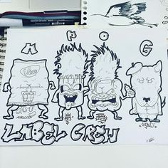 """Label Crew"" en force !!! @hugo.pts @aurlcenn  #bellecourecoledart #bellecourecole #octu #octu_official #spraycan #spraycans #streetart #dream #projet #dessin #drawing #artschool #art #team #aurlcenn #crew #petitsuisse #geri #chien #dog #chamalow #marshmallow #pts #vico #chips #labelcrew #canson #"