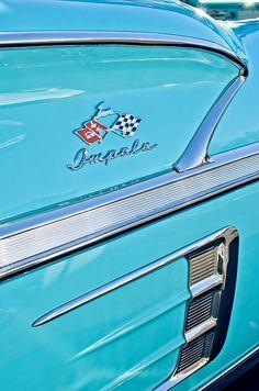 1958 Chevrolet Impala Emblem - Car photographs  by Jill Reger