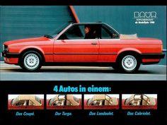 BMW Série 3 E30 Baur Top Cabriolet 1987-1991 - photo Baur Bmw E30 Cabrio, Cabriolet Bmw, Bmw E21, Bmw Convertible, Bmw Vintage, Bmw 2002, Bmw Series, Classic Cars, German