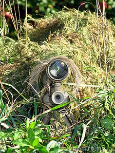 Disguised Sniper And His Rifle Stock Photo - Image of front, glare: 3489066 Sniper Camouflage, Military Camouflage, Military Weapons, Rifles, Special Forces Gear, Military Special Forces, Navy Seals, Army Wife, Sniper Gear