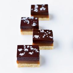 This delicious variation on the classic British confection that features layers of shortbread, caramel and chocolate can be topped with your choice of goodies, like crushed pretzels, candied ginger and toasted nuts.