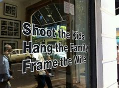 clever store front for a frame shop. ;)