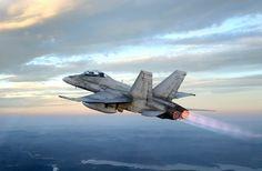 Canadian F/A-18E Hornet.