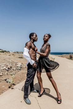 Hot Shots: To Gomes Models Hit The Cape Verdean Beaches | FashionGHANA.com: 100% African Fashion Models: Adilson Moreira & Cintya Tavares