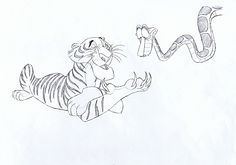 Walt-Disney-Sketches-Shere-Khan-Kaa-walt-disney-characters-31425085-1600-1121.jpg (1600×1121)