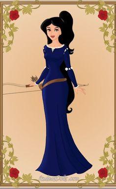Jasmine As Merida by WeavingMaiden