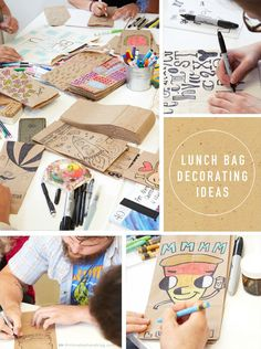 Surprise your little ones on their first day back to school with these Creative Lunch Bag Decorating Ideas by Think.Make.Share, an artist blog from the Creative Studios at Hallmark. No matter which pattern or design you choose, your kids are sure to appreciate the homemade touch.