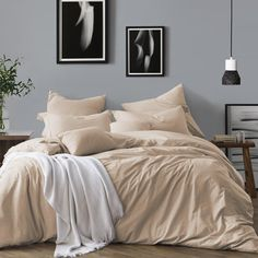 Making over the master suite? Don't forget to refresh your bedding set! Including a duvet cover and pillowcase(s), this set features all you need to turn your bedroom into a restful retreat. Duvet Bedding, Ruffle Bedding, King Duvet, Queen Duvet, Elephant Comforter, Bedroom Comforters, Gray Bedding, Twin Xl Bedding, Quilt Set
