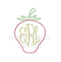 Strawberry Applique Machine Embroidery Design by HerringtonDesign, $1.95